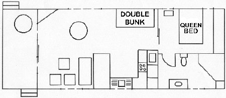 Floorplan of spa cabin 86 at edgewater Holiday Park