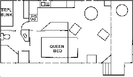 Floorplan of spa cabin 90 at edgwater Holiday Park