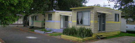 Conventional cabins at Edgewater Holiday PArk
