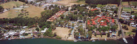 aerial view of Edgewater Holiday Park