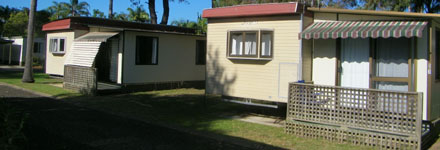 mobile home units at Edgewater Holiday Park