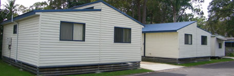 Parkview cabins at Edgewater Holiday Park